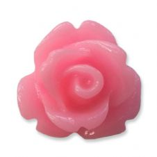 10mm Candy Pink Resin Rose Buds